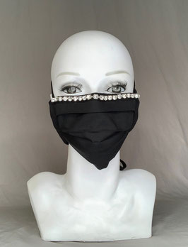 Luxuslady Alltagsmaske / Gesichtsmaske uni schwarz