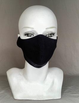 Alltagsmaske / Gesichtsmaske runde Form, schwarz