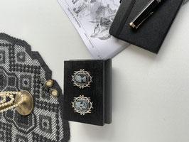 Schatulle schwarz Skull Brautpaar mit Ringkissen für Eheringe gothic Hochzeitspaare