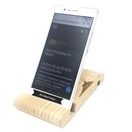 Handy Halterung aus Bambus mit Wunsch Gravur