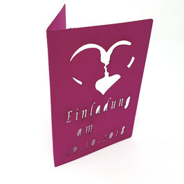 Einladungskarte In Love Lasercut