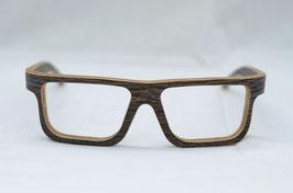 Holzbrille Nallo in Wenge dunkel