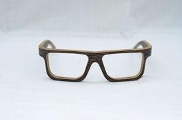 Holzbrille Sonsa in Wenge dunkel