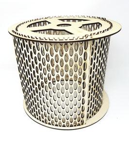 gelochte Pendellampe, Hänge Lampe aus Holz im Stecklampen System