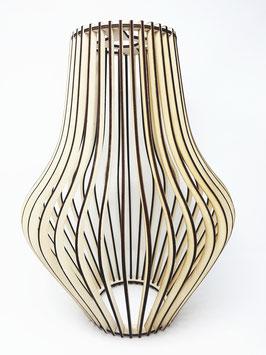 Pendellampe, Hänge Lampe aus Holz im Stecklampen System