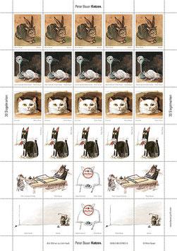 Siegelmarken Katzen 1