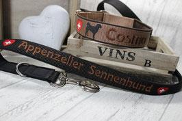 """Set """"Appenzeller"""" Halsband und Leine"""