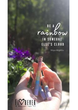Regenboog in een flesje
