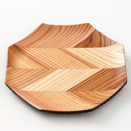 杉矢羽の八角皿