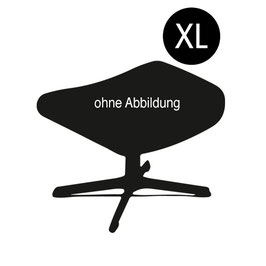 """Timeout"" Fußhocker XL, Eiche lackiert, Alufuß, Leder Fantasy"