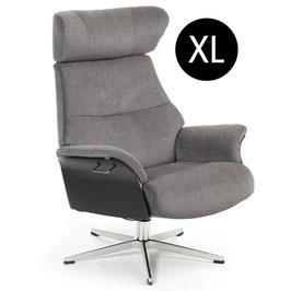 "Relaxsessel ""Air"" XL, Eiche schwarz , Alufuß, Stoff Evita"