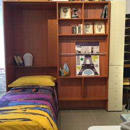 Novità usato!!! Libreria scrittoio con letto singolo ribalta e armadietto.