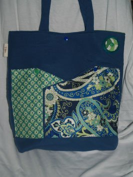 Bolso azul Flores