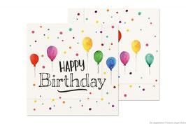 """Serviette """"Happy Birthday"""" 20St."""