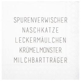 """Cocktailserviette """"Spurenwischer..."""""""