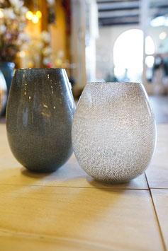 """Vase """"Silva"""" grau und weiß"""