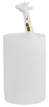 """Porzellangeschichten Vase """"Giraffe"""" weiß/gold"""