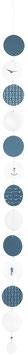 Meerkette, blau