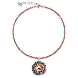 Halskette Amulett small Swarovski® Kristalle & Mesh multicolor