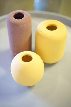 Vase Steinzeug pastell