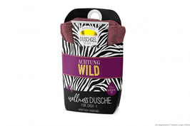 """Wellnessdusche """"Achtung Wild"""" mit Handtuch 30x50cm"""