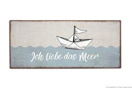 """Schild """"Ich liebe das Meer"""""""