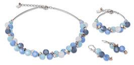 Armband Polaris, Swarovski® Kristalle & Edelstahl türkis-blau