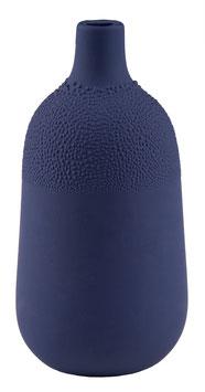 Perlenvase indigoblau 5,5x11,5cm