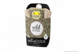 """Wellnessdusche """"Wildkatze"""" mit Handtuch 30x50cm"""
