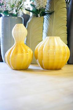 "Vase ""Kürbis"" gelb"