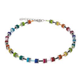 GeoCUBE® Halskette classic Polaris & Strass multicolor
