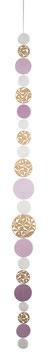 Kreiskette gestanzt gold rosa
