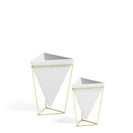 """2er Set Vasen """"Trigg"""" gold/weiß"""