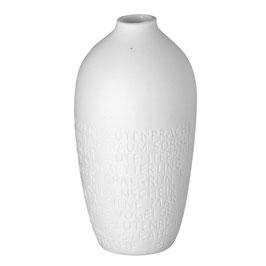 Text Vase klein 5x11cm