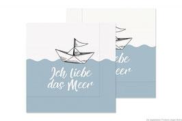 """Serviette """"Ich liebe das Meer"""" 20St."""