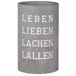 """Beton Weinkühler """"Leben Lieben Lachen..."""""""