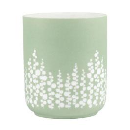 Blattwerk Porzellanlicht Blüten 10,5x12,5cm