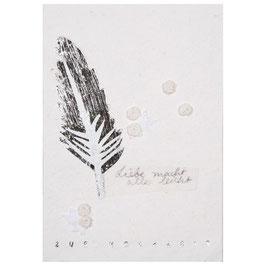 """Blütenhochzeitskarte Feder """"Zur Hochzeit"""""""