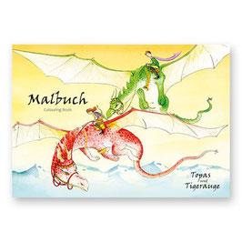 """Malbuch """"Drachen"""" Topas und Tigerauge"""