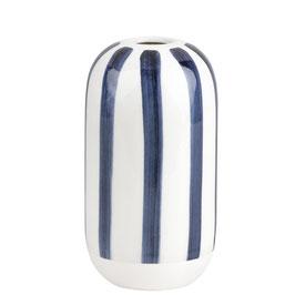 Vase Streifen. Tintenblau