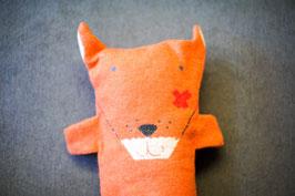 "Decke in Puppe ""Fuchs"""