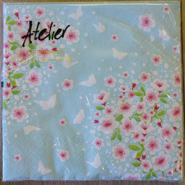 Servietten Kirschblüten hellblau