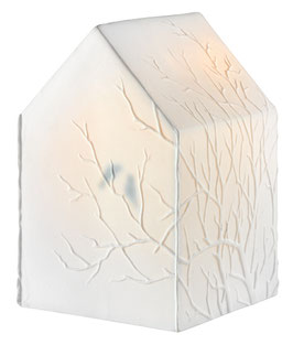 Hauslampe Zweige 13x13x19cm