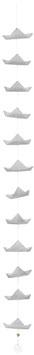 Schiffchenkette, grau