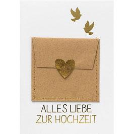 """Gutschein Karte """"Alles Liebe zur Hochzeit"""""""