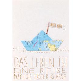 """Karte """"Das Leben ist eine Reise..."""""""
