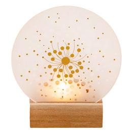 """Glaspoesie Teelicht """"Blüten"""" 9cm"""