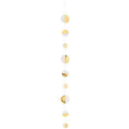 Capizkette gold halb/halb 130cm