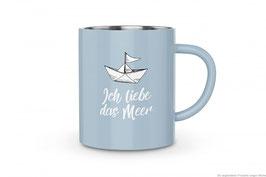 """Thermobecher Edelstahl """"Ich liebe das Meer"""" 250ml"""