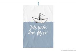 "Geschirrtuch ""Ich liebe das Meer"" 70x50cm"